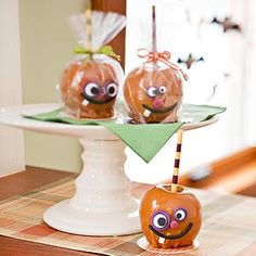 Funny-Faced candy apples