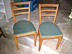 The Vintage Magi:: From Trash to Treasure: Ladder Back Chairs Ladder, Diy Furniture, Diy Furniture Chair, 1960s Kitchen, Refinishing Furniture, Ladder Back Chairs, Chair, Dining Chairs, Kitchen Chair Makeover
