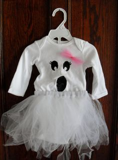 Baby Girl Ghost Tutu Halloween Costume by SweetPeazNBumbleBeez, $20.00