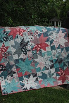 "This quilt was made with two layer cakes and that is it! It is in the book ""One Bundle of Fun"", blogged here: http://sweetjanesquilting.blogspot.com/"