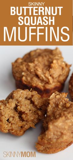 Skinny Butternut Squash Muffins! Perfect breakfast option for picky eaters! Children wont even realize how many vegetables are in these small delicious muffins! Make them in advance and they will last all week!
