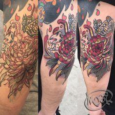 Burned the midnight oil with @j_garnett.art  yesterday, had a blast! #moge #empiretattooinc #empiretattoo #tattoo #tattoosnob #tattoo #bostontattoo www.empiretattooinc.com