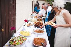 Backyard Wedding- buffet