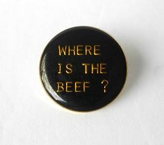 Items similar to Pin Lapel Tie Button Where is the Beef ? Vintage on Etsy Vintage Pins, Lapel Pins, Beef, Buttons, Coins, Stamps, Etsy, Accessories, Products