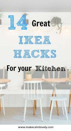 IKEA hacks for your kitchen. Easy DIY hacks for your kitchen using IKEA Ikea Hacks, Ikea Furniture Hacks, Eco Furniture, Diy Hacks, Furniture Removal, Furniture Dolly, Furniture Stores, Inexpensive Furniture, Furniture Websites