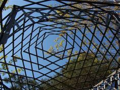 Oxidized Steel Gazebo.. very very cool.. imagine the patterns it would cast in the sunlight.. awesome.