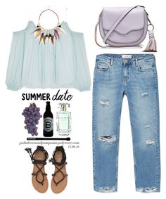 """""""Summer Date: The Beach"""" by palmtreesandpompoms ❤ liked on Polyvore featuring Elizabeth and James, MANGO, River Island, Rebecca Minkoff, Edward Bess, Billabong, Elie Saab, Triple Eight, mango and beach"""