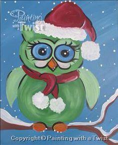 Cozy Christmas Owl