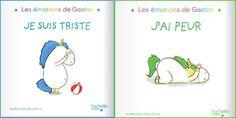 """Découvrez """"Les émotions de Gaston"""" des livres de sophrologie illustrés et ludiques qui aideront vos enfants à mieux gérer leurs ressentis. Roman, Gaston, Point, Change, Comics, Kids, Sad, The Emotions, Unicorn"""