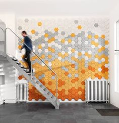 Very cool - moisture and sound resistant.    With the collection set to expand over time - adding new colours and shapes - we think that Hexagon is a product you may soon be seeing more of...