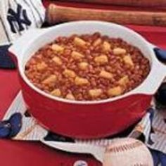 #recipe #food #cooking Ballpark Baked Beans