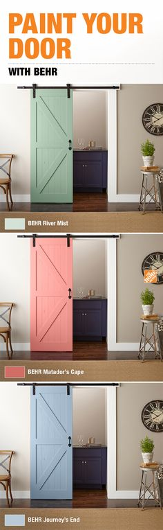 A new door calls for a fresh coat of paint. We have the BEHR paint color you're looking for to complete your room refresh.