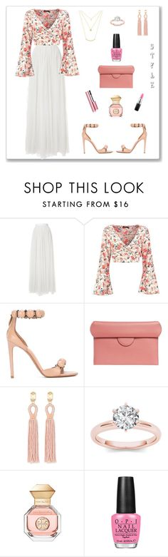 """Style, I Love!"" by rboowybe ❤ liked on Polyvore featuring Needle & Thread, Boohoo, Alaïa, Roksanda, Oscar de la Renta, Tory Burch, OPI and MAC Cosmetics"