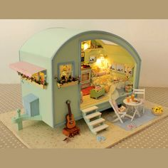 DIY Dollhouse Miniature Traveller Time Dollhouse Kit by UniTime