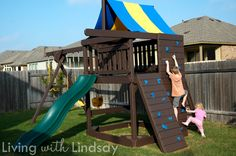how to strip and stain a playscape