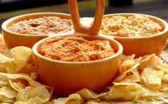 Buffalo Wing, Pizza & Sour Cream & Onion-Hummus 3 Ways   Noble Pig