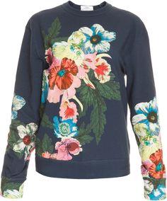 ERDEM Zea Floral Ls Jumper