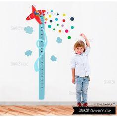 Avión confeti vinilo medidor - Vinilos infantiles