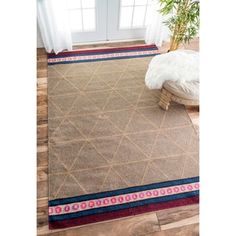 Shop for nuLOOM Handmade Flatweave Geometric Tan Rug (7'6 x 9'6). Get free shipping at Overstock.com - Your Online Home Decor Outlet Store! Get 5% in rewards with Club O!