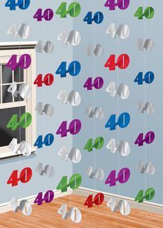 6 Black Birthday Party Hanging String Decorations for sale online 60th Birthday Party Decorations, Birthday Party Celebration, 40th Birthday Parties, 80th Birthday, Happy Birthday, Ideas Para Fiestas, Luau, Ideas Cumpleaños, Black Silver