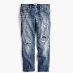 Shop J.Crew for the Tall slim boyfriend jean in charles wash for Women. Find the best selection of Women Pants available in-stores and online. Ripped Jeans, Denim Jeans, J Crew Looks, Fashion Sites, Denim Fashion, Distressed Jeans, Cashmere Sweaters, Boyfriend Jeans, Blue Jeans
