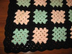 afghan patterns for beginners | Hooked on Needles: Traditional Granny Square Pattern and Pictures