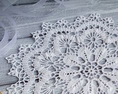 Hand crochet doily Doily white Crochet round doily lace doily crochet tablecloth housewarming brugges doily gift idea
