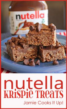 Nutella Krispie Treats from Jamie Cooks It Up!