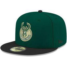 Men s New Era Green Milwaukee Bucks 2Tone 59FIFTY Fitted Hat 80c4bebff363