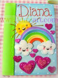 Resultado de imagen para libretas decoradas con animalitos de foami