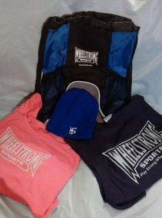 Deluxe Blue Sportsbag  24 oz Water Bottle Beanie of your choice 2 Shirts of your choice 5 bracelets 2 bumper stickers  SAVING of $34.00!