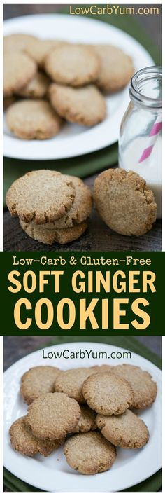 Love ginger? These soft ginger cookies are made low carb and gluten free. They are very similar to gingersnaps without the crispness.