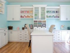 Craft Room Storage Ideas & Organization Systems Our craft room storage solutions provide effective organization without sacrificing space for your creative projects. Get craft room design ideas by California Closets. Sewing Room Organization, Craft Room Storage, Storage Ideas, Storage Systems, Organization Ideas, Closet Storage, Closet Craft Rooms, Kitchen Organization, Craft Room Shelves