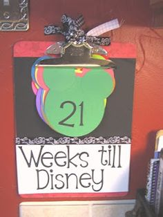 Disney clipboard countdown idea