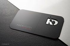 Professional black metal business card template - RD #UniqueBusinessCards #businesscards