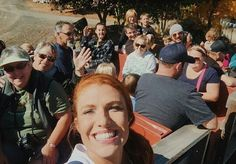 Audrey taking a selfie on the tour.