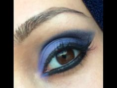 Bluish purplish eye make up, perfect for prom!