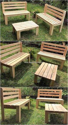 Latest and Fresh DIY Wood Pallet Ideas 2019 - Pallet Furniture - Pallet Projects Diy Garden Furniture, Diy Outdoor Furniture, Diy Pallet Furniture, Diy Pallet Projects, Furniture Projects, Wood Furniture, Pallet Ideas, Furniture Removal, Palette Garden Furniture