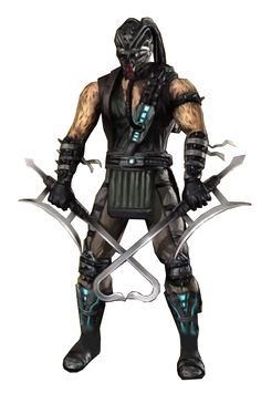 Kabal - Mortal Kombat; A mysterious chosen warrior who survived an attack from one of Shao Kahn's extermination squads. His origin was unknown, however, his ending reveals he was actually a member of the Black Dragon. In Mortal Kombat (2011), Kabal is once again the good guy. Before his disfigurement & thus, wearing a facemask to hide his deformity, he was a police officer & partner of Kurtis Stryker.