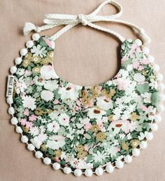 floral baby girl drool bib from billy bibs