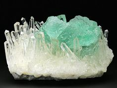 A particularly fine specimen of Fluorite with Quartz from the Nagar area in Pakistan. Crystal Classics Minerals