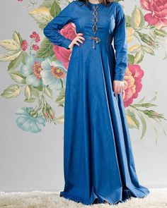 Wonderful Vrangler Jeans Dress at www.modestgarments.com / Casual  #modestgarments #hijabstyle #hijabfashion #modest #muslimawear… Modest Fashion, Hijab Fashion, Jeans Dress, Frocks, Muslim, Formal Dresses, Casual, Instagram, Dresses For Formal