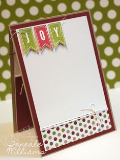 Inside view. Christmas Card by Teneale Williams. A Banner Christmas. @Stampin' Up! #wcmd2013