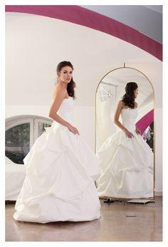 un romantico abito da sposa