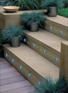 27 Attractive Outdoor Steps Lighting Designs → For more, please visit me at: www.facebook.com/jolly.ollie.77 Outdoor Stair Lighting, Stairway Lighting, Outdoor Decor, Entry Lighting, Ceiling Lighting, Exterior Lighting, Strip Lighting, Pendant Lighting, Patio Stairs