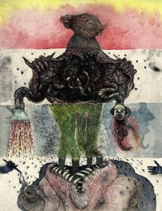 """Jake and Dinos Chapman """"Exquisite Corpse"""" series at Tate Modern fantastic modern up date to show to my class , Jake And Dinos Chapman, Jake Chapman, Outsider Art, Illustrations, Illustration Art, Exquisite Corpse, Music Drawings, Wow Art, Amazing Drawings"""