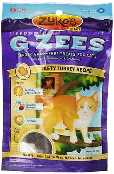 Zuke's G-Zees Tasty Turkey Recipe Cat Treats - 3oz >>> Read more reviews of the product by visiting the link on the image. (This is an Amazon affiliate link)