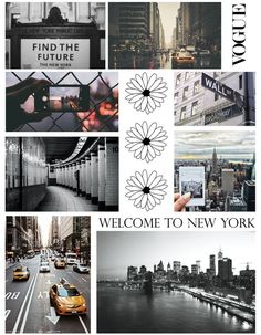 New York themed collage Notebook Collage, Diy Notebook Cover, Sketchbook Cover, Collage Background, Diy Back To School, Diy Tumblr, Photo Album Scrapbooking, Diy School Supplies, Aesthetic Collage
