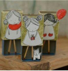 Куклы из спичечных коробков