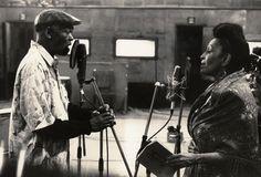 Ibrahim Ferrer and Omara Portuondo duetting on 'Silencio'.